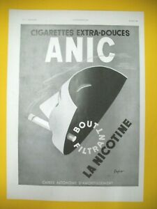 Advertising-Press-Anic-Cigarette-Nicotine-bout-18-22mm-Illustration-Sepo-1938