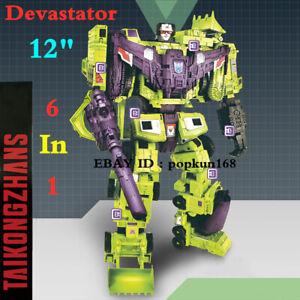"""New Deformabl Robot Devastator 6 In 1 Action Figure 12"""" Engineering Truck Toys"""