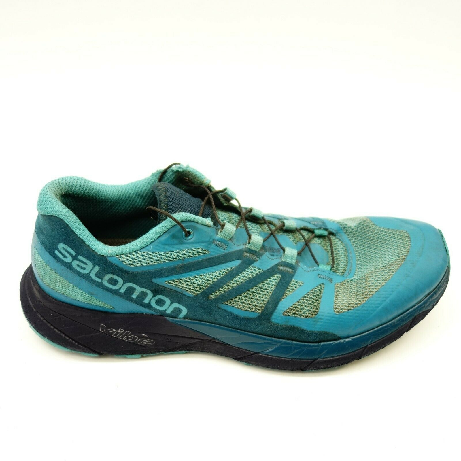 Salomon Womens Size 10 Sense Ride bluee Athletic Hiking Mountain Running shoes