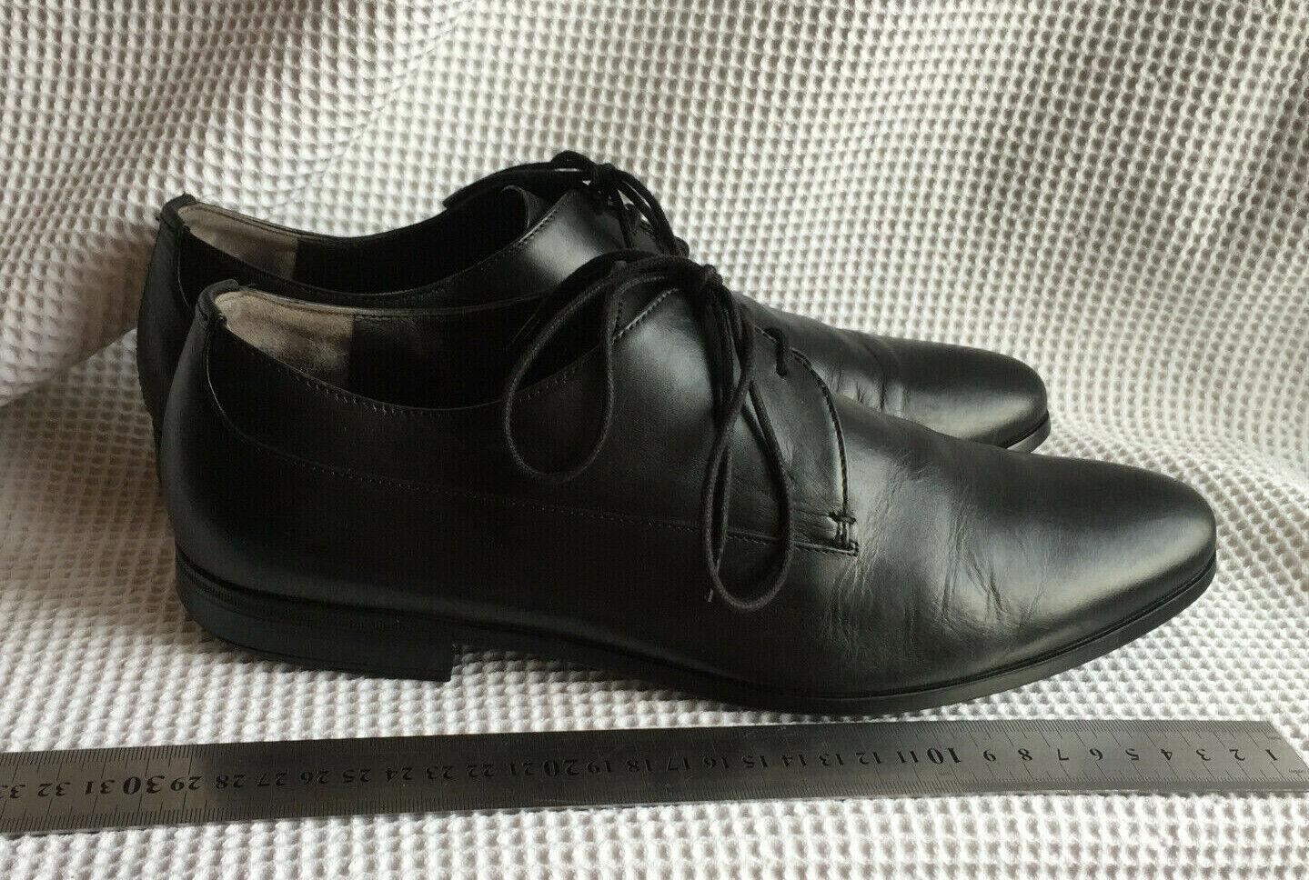 Fratelli Rossetti One shoes  black leather men's shoe size UK 8 EU 42 USA 9  480