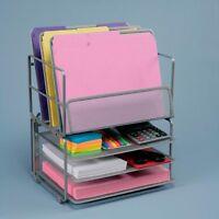Seville Classics Office Desk Organizer, Platinum Mesh 6-trays , New, Free Shippi on sale