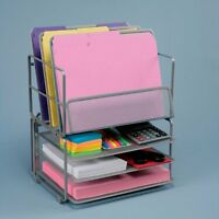 Seville Classics Office Desk Organizer, Platinum Mesh 6-trays , New, Free Shippi on sale