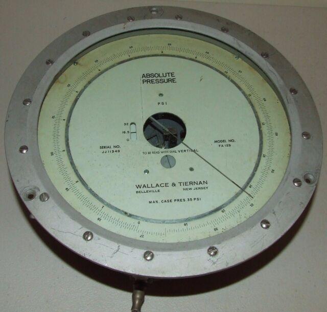 Wallace Tiernan Absolute Pressure Meter Gauge FA129