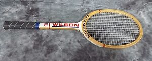 Vintage-Wooden-Wilson-Champion-Tennis-Racquet