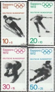 BRD-BR-Deutschland-680-683-kompl-Ausgabe-gestempelt-1971-Olympiade