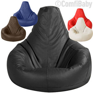 BEANBAG-GAMER-Chair-ADULT-GAMING-Bean-Bag-Faux-Leather-Game-XXL-Seat-POD-Bags
