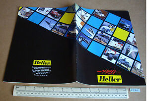 1989 Vintage Heller France Kit Plastique Catalogue Airliners Voitures Galions (b460)-afficher Le Titre D'origine