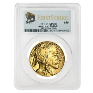 2014-1-oz-50-Gold-American-Buffalo-PCGS-MS-70-First-Strike
