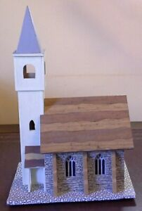 Quirky-Vintage-wood-musical-trinket-box-church-steeple-tower