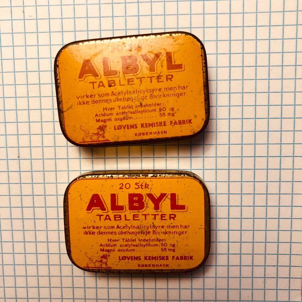 Dåser, Små metal Albyl æsker