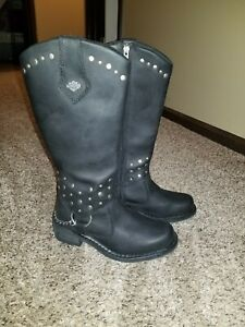 Harley-Davidson Womens Size 5.5 Leather Motorcycle Riding Boots