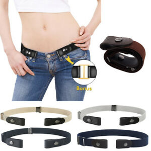 Elastic Buckle-free  Unisex Comfortable Invisible Belt for Jeans No Bulge Hassle