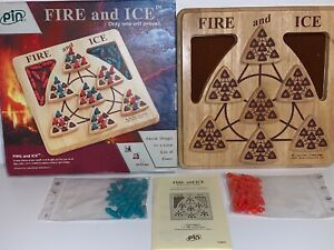 Fire-and-Ice-Wooden-Board-Game-PIN-Masterpiece-Games-Complete-8-Mystic-Struggle