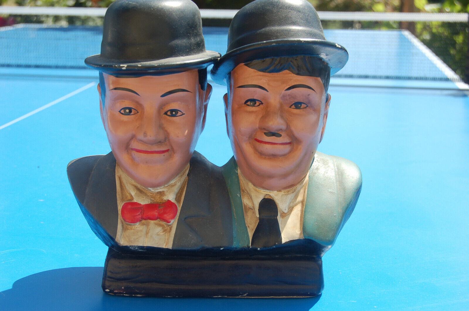 Laurel & Hardy  20 cm plâtre ancienne figurine en platre  vintage