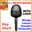 Mitsubishi-Lancer-Outlander-Mirage-Grandis-Remote-Key-Shell-Case-2-Buttons thumbnail 1