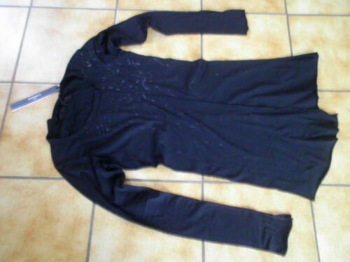 Dip Kleckse l gr schwarzgraue traumteil shirt Longshirt rundholz lagenlook wHq7IO