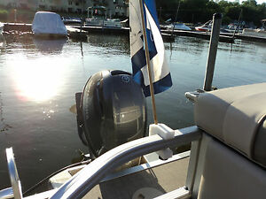 Details About Pontoon Boat Party Barge Rail Flag Pole Mount Holder Made In The Us Removable