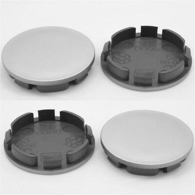 Centro De Centro De Rueda Caps Universal Aleación Borde Plástico 4x Tapacubos 56.5-60.5 mm