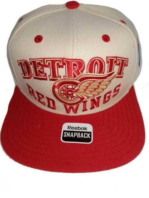 8f17ac3c0b4 New Detroit Red Wings Mens OSFA Reebok Winter Classic Flatbrim Snapback Hat   24