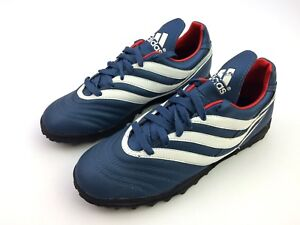 28f25b257bb9 Image is loading Adidas-Vintage-Retro-Predator-Scission-Football-Turf-Blue-