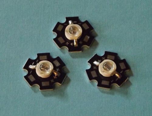 3 x 5w 740nm ir Power LED on Heatsink disipador térmico emisores infrarrojos Infrared 5mm