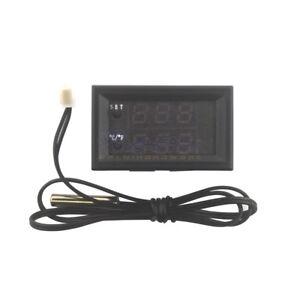 Termostato Digital del microordenador del LED controlador Conmutador DC12V Sensor De Temperatura