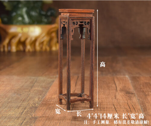 Doll Furniture Chinese Mahogany Flower Stands B~1:6 Scale Barbie