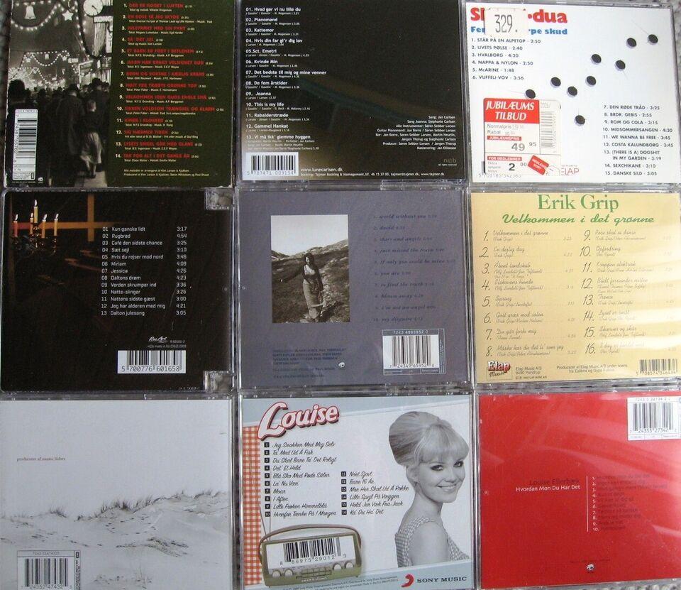 Danske kunstnere: Danske kunstnere: 9 cd'er - se liste, pop
