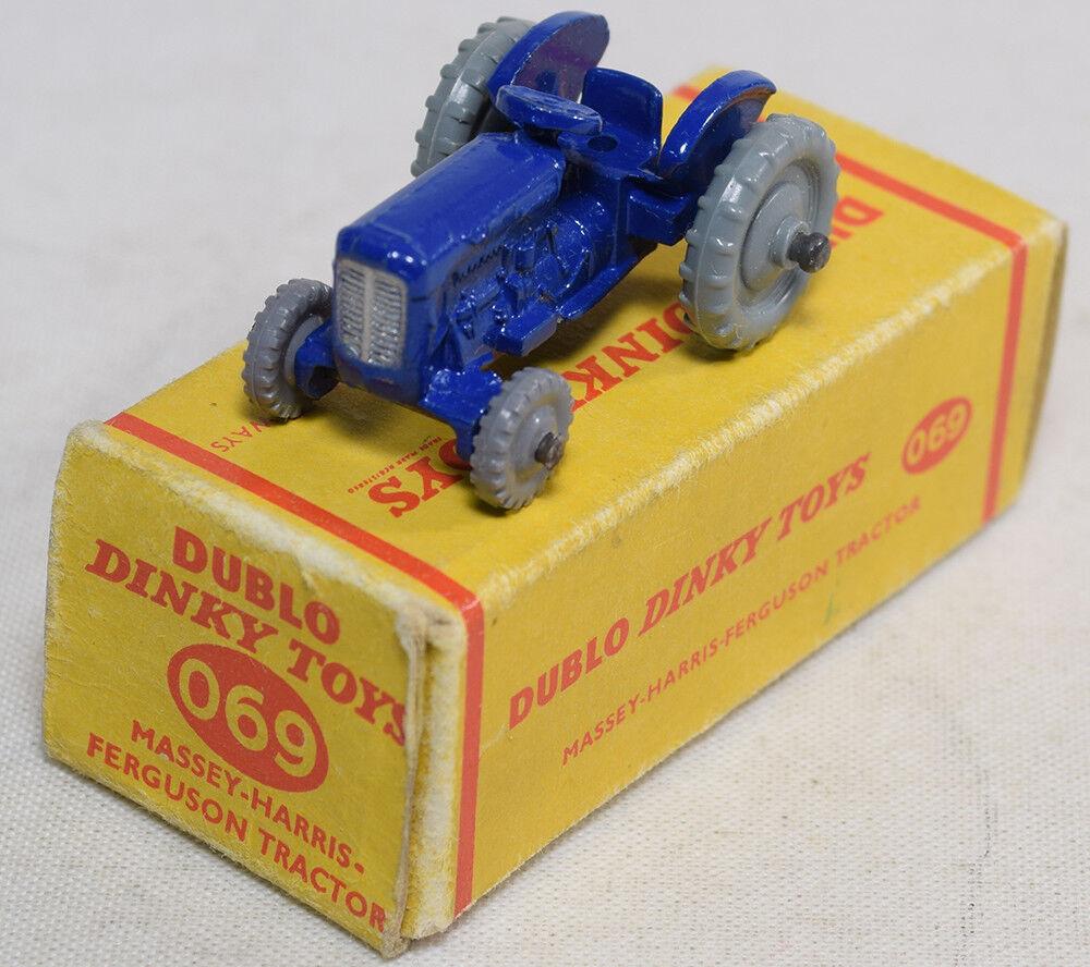 1959  069 Dinky dublo Massey Harris-Ferguson Tractor Casi Perfecto Con Caja Muy Bueno
