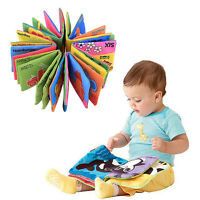 Kid Baby Unisex Intelligence development Cloth Bed Cognize Book Educational Toys