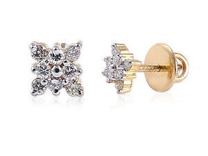 Pave-0-40-Cts-Runde-Brilliant-Cut-Natuerliche-Diamanten-Ohrstecker-In-18K-Gold