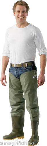 Ocean Nova Delux Fly Fishin Thigh Hip Waders With Studs