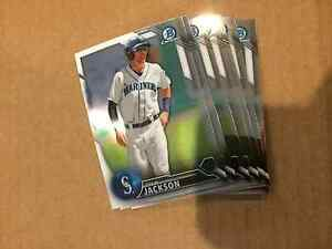 2016 Bowman BCP19 Drew Jackson 7 count all chrome lot Mariners