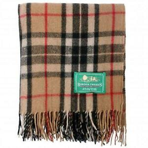Border-Tweeds-100-Wool-Scottish-Tartan-Blankets-Throws-Rug-Many-Tartans