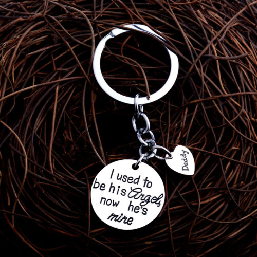 Family Heart Pendant Keychains Dog Pet Keyrings Charm Jewellery Key Chains Gifts