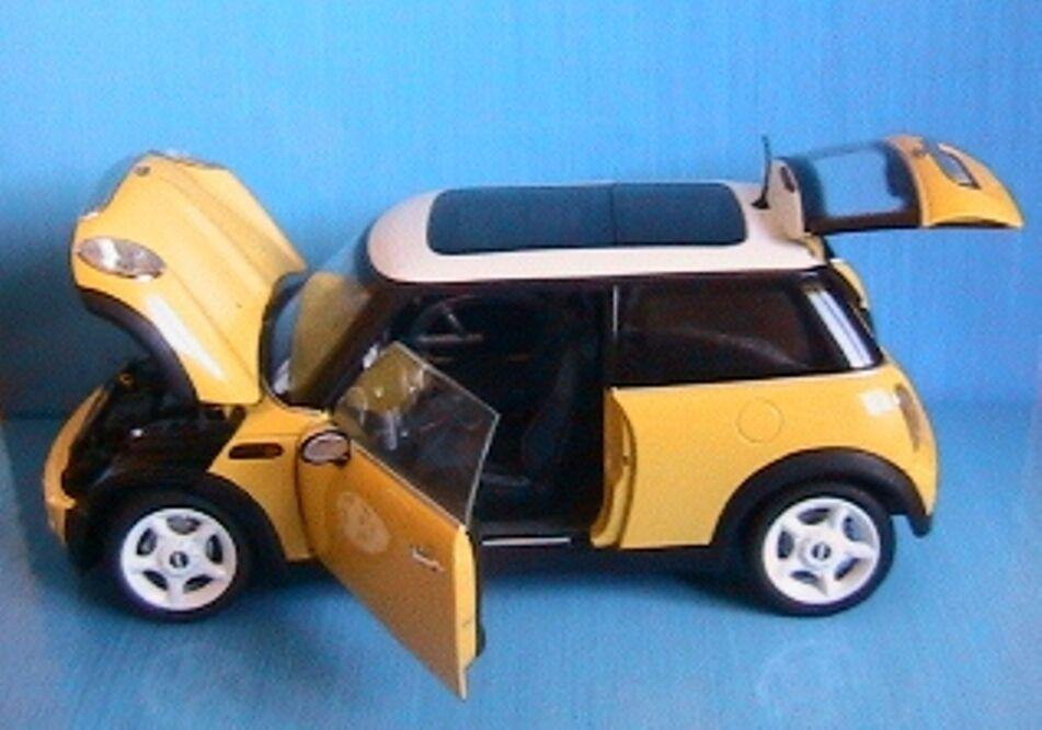BMW MINI COOPER  2001 jaune KYOSHO 08551Y 1 18 jaune WEISS nouveau JAUNE 1 18  soutenir le commerce de gros