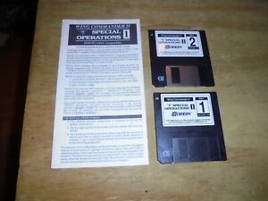 3 5 Disk Pc Game Wing Commander Ii Special Operations 2 Disc