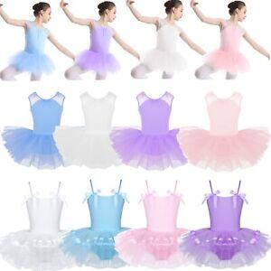 Toddler-Girls-Ballet-Costume-Tutu-Leotard-Dance-Dress-Gymnastics-Ballerina-Skirt