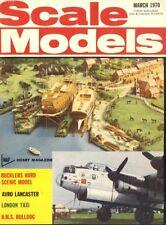 SCALE MODELS MAGAZINE 1970 MAR AUSTIN FX3 LONDON TAXI, H.M.S. BULLDOG, SUZUKI