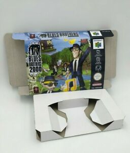 Blues Brothers 2000 - reproduction box with insert - N64 - Pal or NTSC.