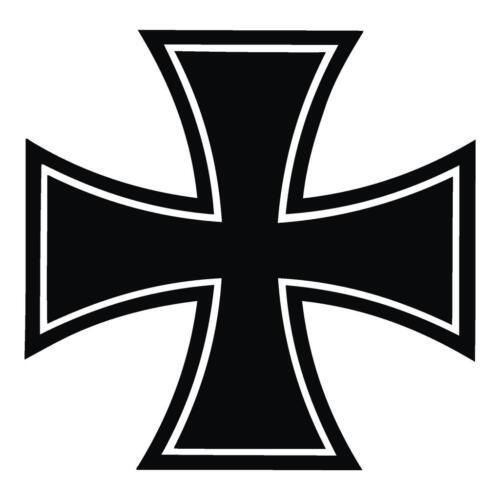 2x Croix de fer VOITURE Autocollant 10 x10 Sticker Police Camion Miroir Vitre GZ