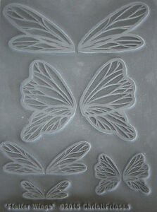 Flutter Wings Polymer clay texture stamps by Christi Friesen newest stamps 2015