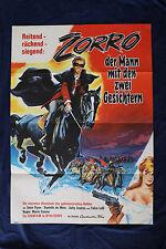 orig Kino Plakat - Zorro der Mann mit den zwei Gesichtern 1963 Sean Flynn u.a. !