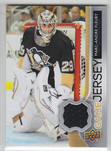 2014-15-UD-SERIES-2-M-A-FLEURY-GAME-JERSEY-GJ-MF-GAME-USED-Upper-Deck-Penguins