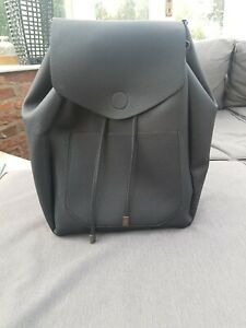 NEW-LOOK-Black-Faux-Leather-Backpack-Rucksack-Handbag-Bag