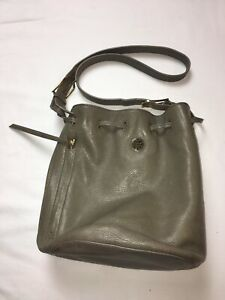 dd0cb5afde59 TORY BURCH Gray-Green Drawstring Crossbody Hobo Bag Style 22159739 ...