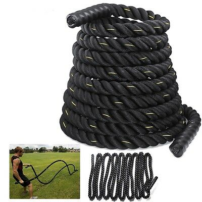 Battling Sport Battle Power Rope 38//50mm Boot camp Gym Exercise Fitness Training