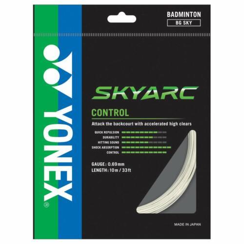 BG SKY White Genuine Yonex Skyarc Badminton Racket String 10m Set