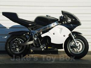 40cc Pocket Bike Gas Powered Ninja Mini Bike Kids Black Ebay