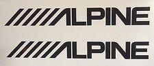 (2) Alpine car audio speakers stereo Amplifier Vinyl Decal Sticker 8x1 inch JDM